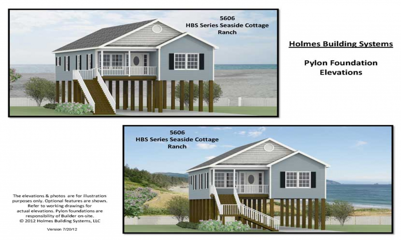 Beach house floor plans on pilings raised beach house for Piling house plans