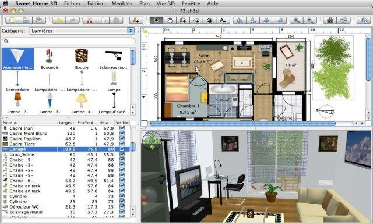 Sweet Home 3D Software Free Home Design Software 3D, home plans download - Treesranch.com