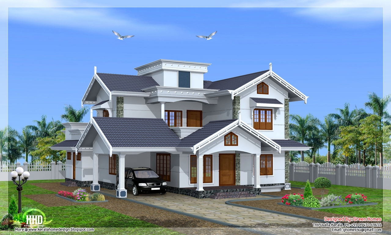 Normal house in kerala beautiful house designs kerala style villa style homes - Kerala beautiful house ...