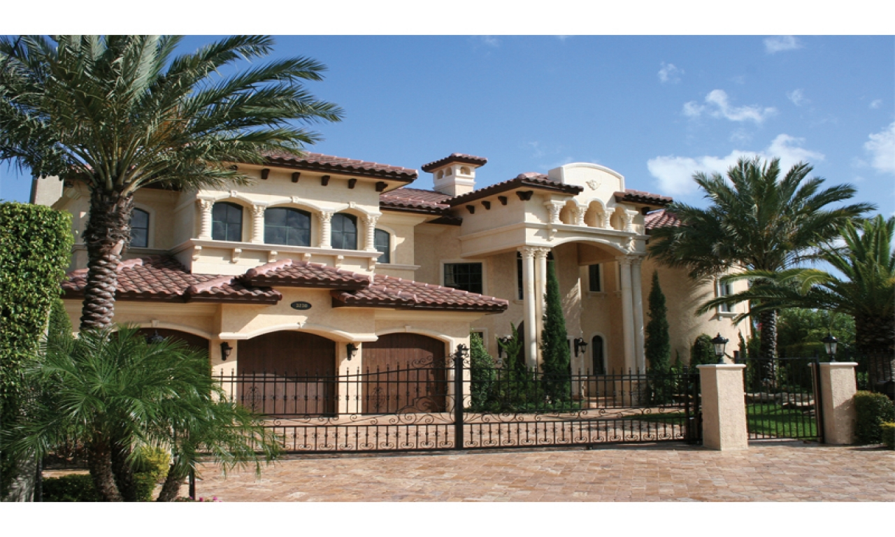 Mediterranean tuscan house plans luxury spanish for Luxury tuscan homes