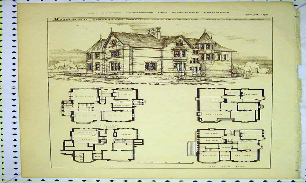 Victorian vintage house floor plans victorian house floor for Vintage victorian house plans