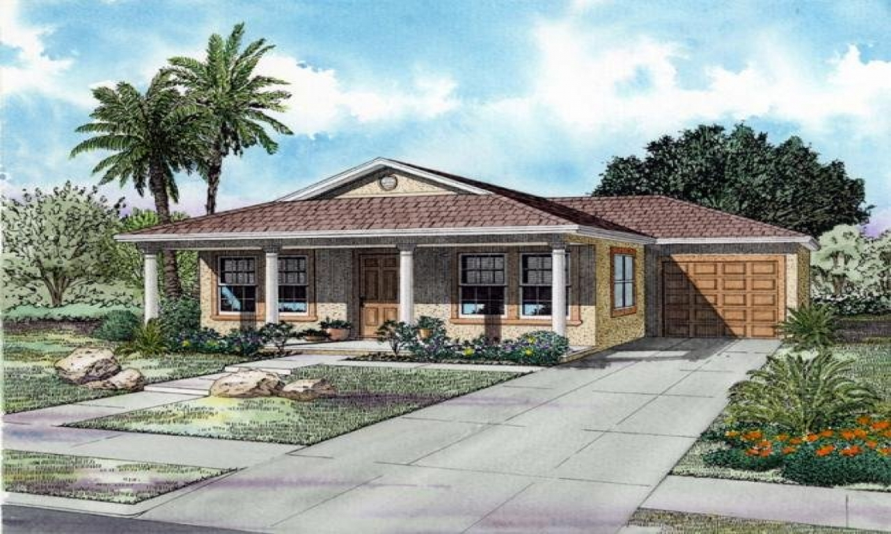 Ranch House Plans One Story House Plans With Front Porch
