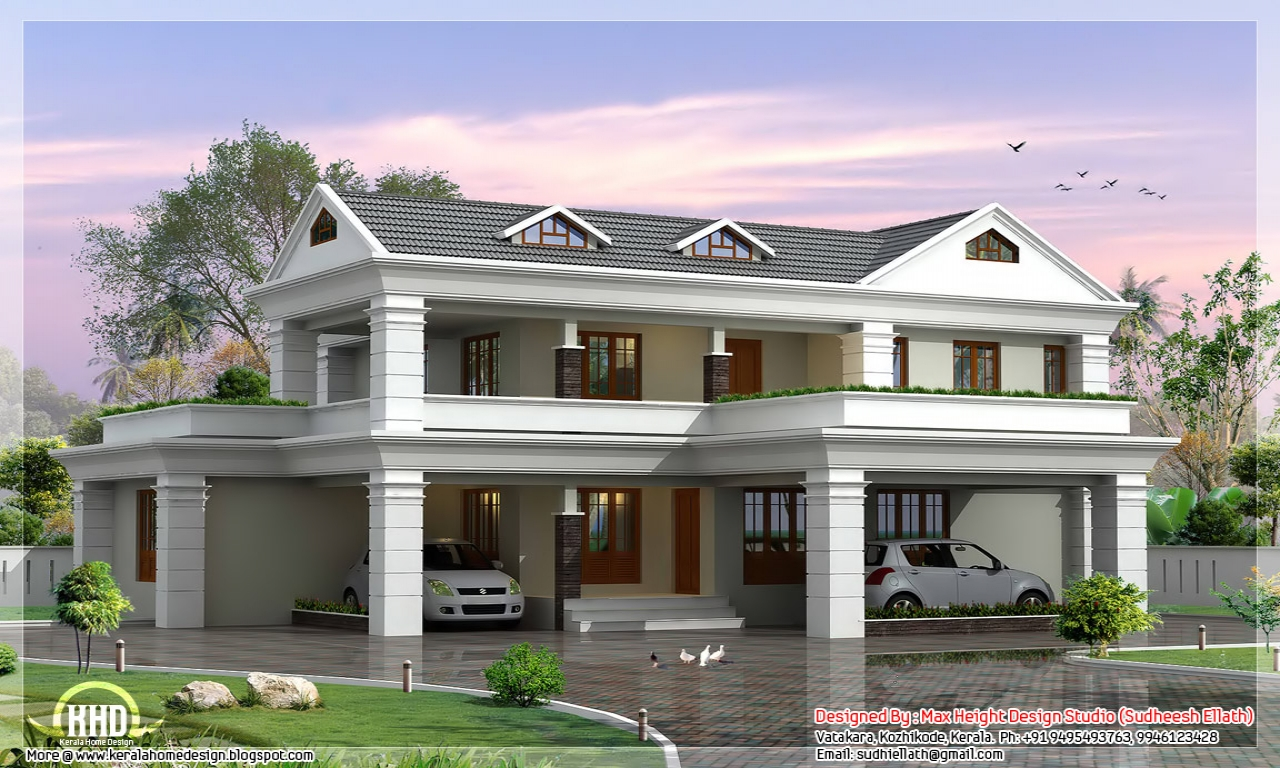2 storey house design plan residential 2 storey house plan haus plans. Black Bedroom Furniture Sets. Home Design Ideas