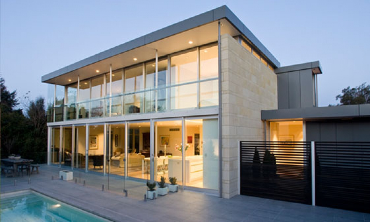 Very Nice Houses Glass Modern House Design, concrete ...