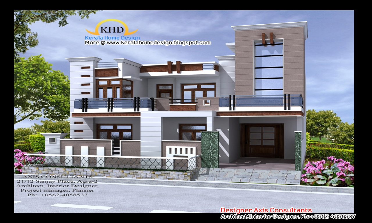 Indian modern house elevation front elevation indian house designs indian home plans and - D home design front elevation ...