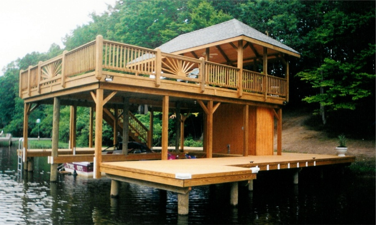 Do It Yourself Home Design: Boat Dock House Designs Boat Dock Accessories, Lake Home