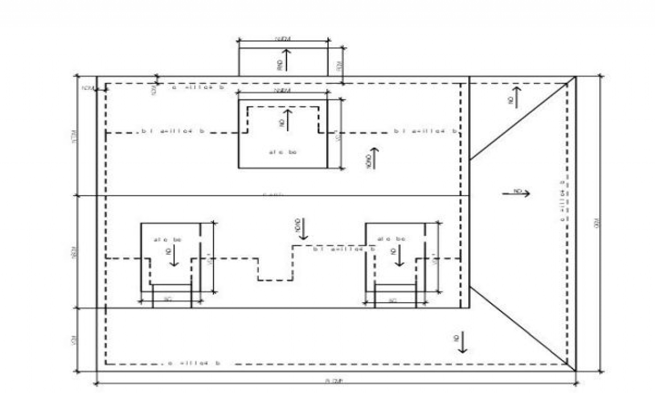 Flat Roof Plans Flat Roof Plan Drawing Flat Building