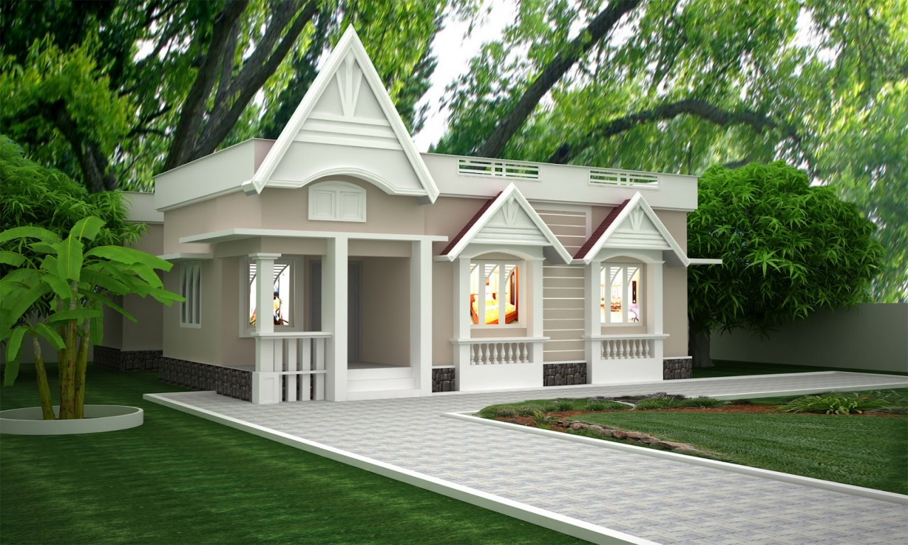Single story exterior house designs simple one story for Exterior design of building