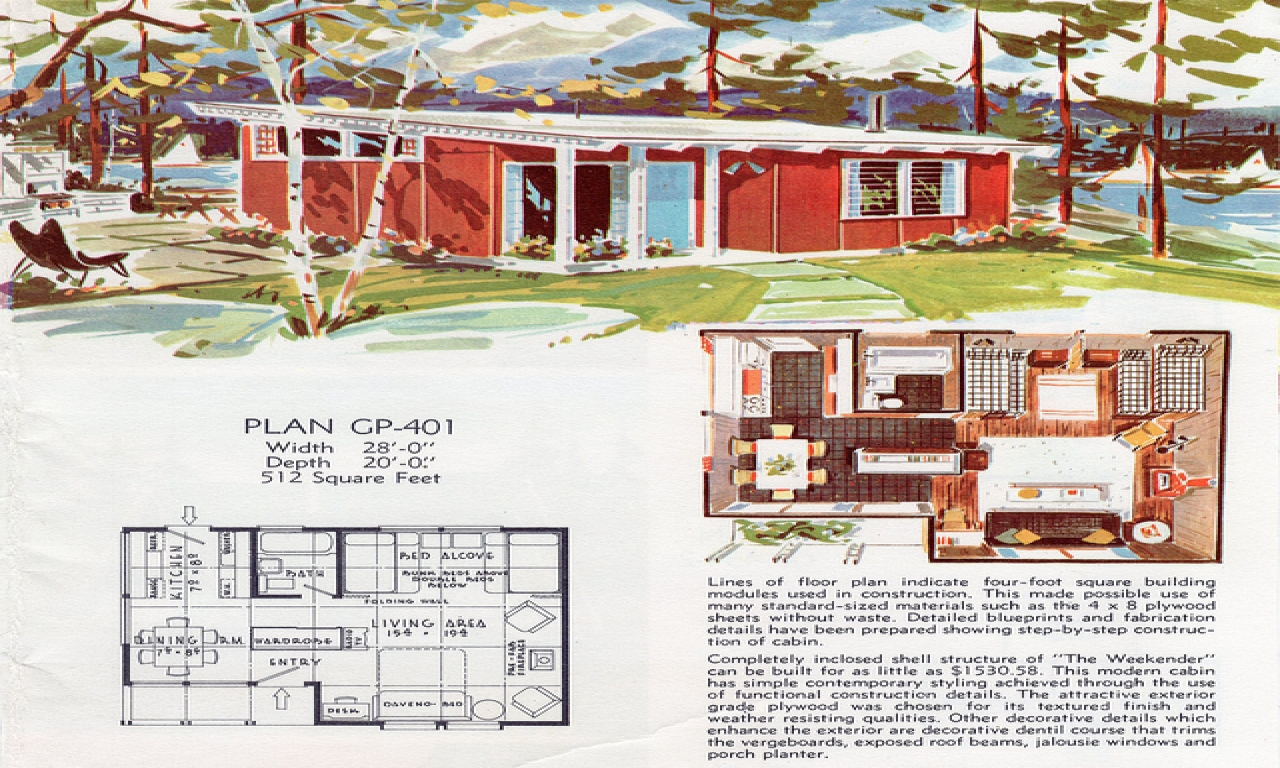 Vintage house floor plans 1950s ranch house floor plans for Db ranch