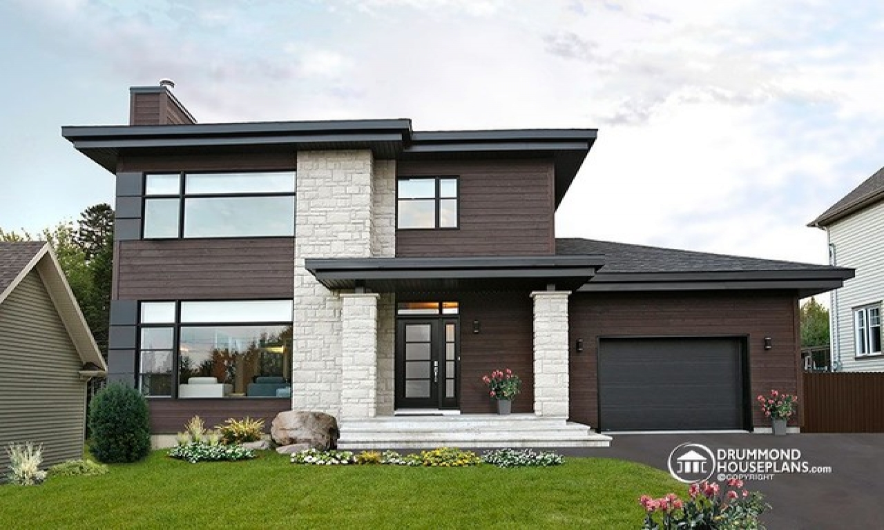 Modern Contemporary House Plan One Story House Plans