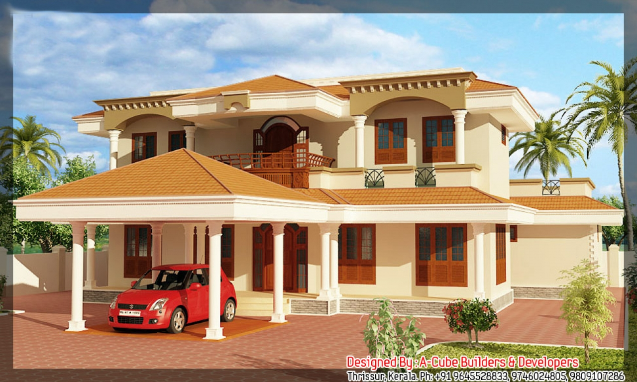 New model kerala house plans beautiful houses in kerala for Beautiful kerala house plans