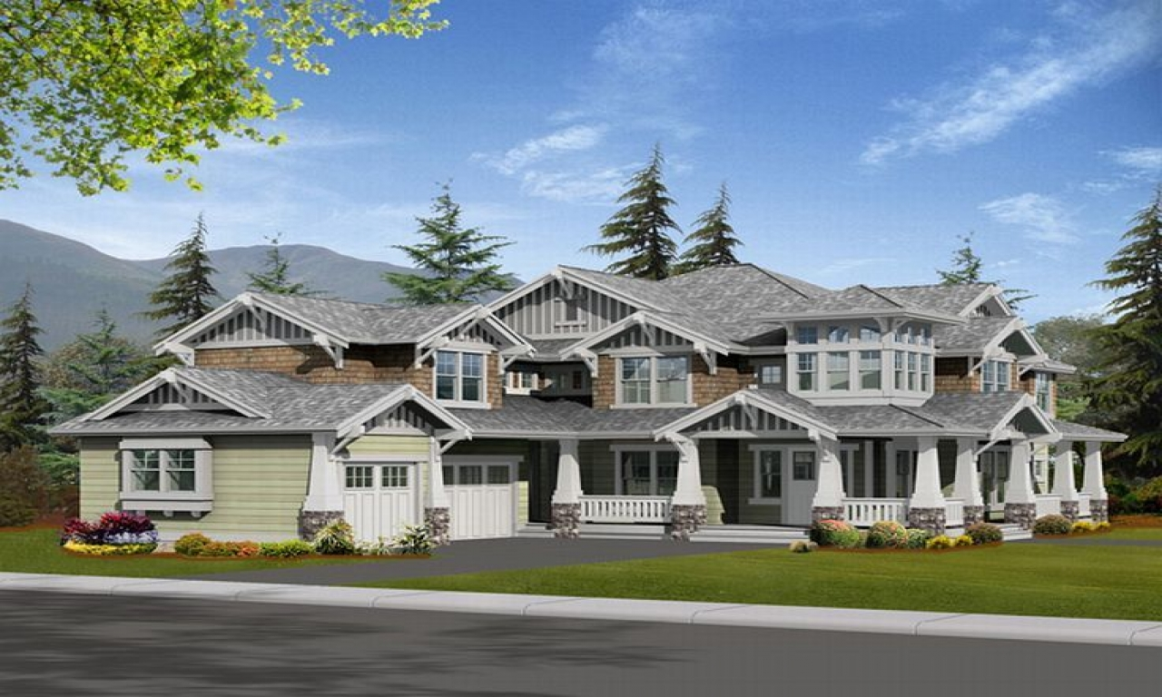 Beautiful luxury homes with plans luxury craftsman home for Craftsman luxury homes
