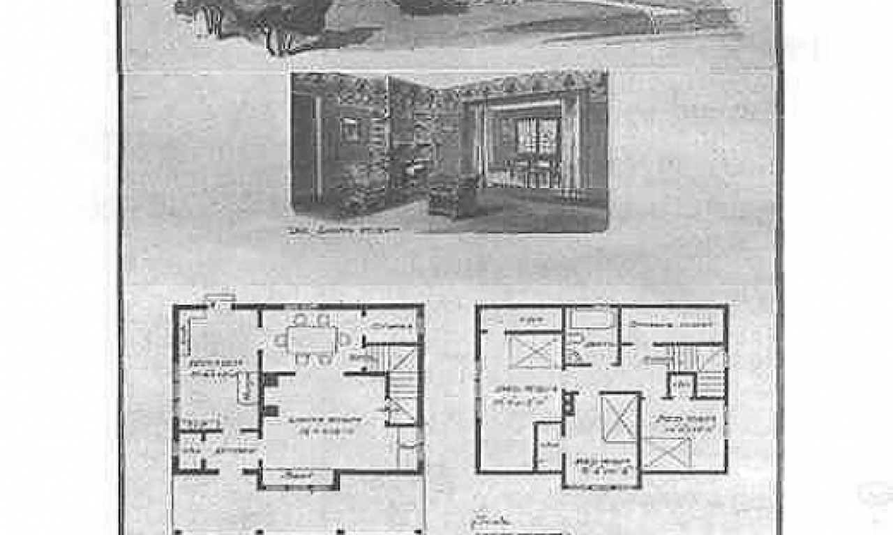 Craftsman bungalow style homes historic craftsman bungalow for Historic homes floor plans