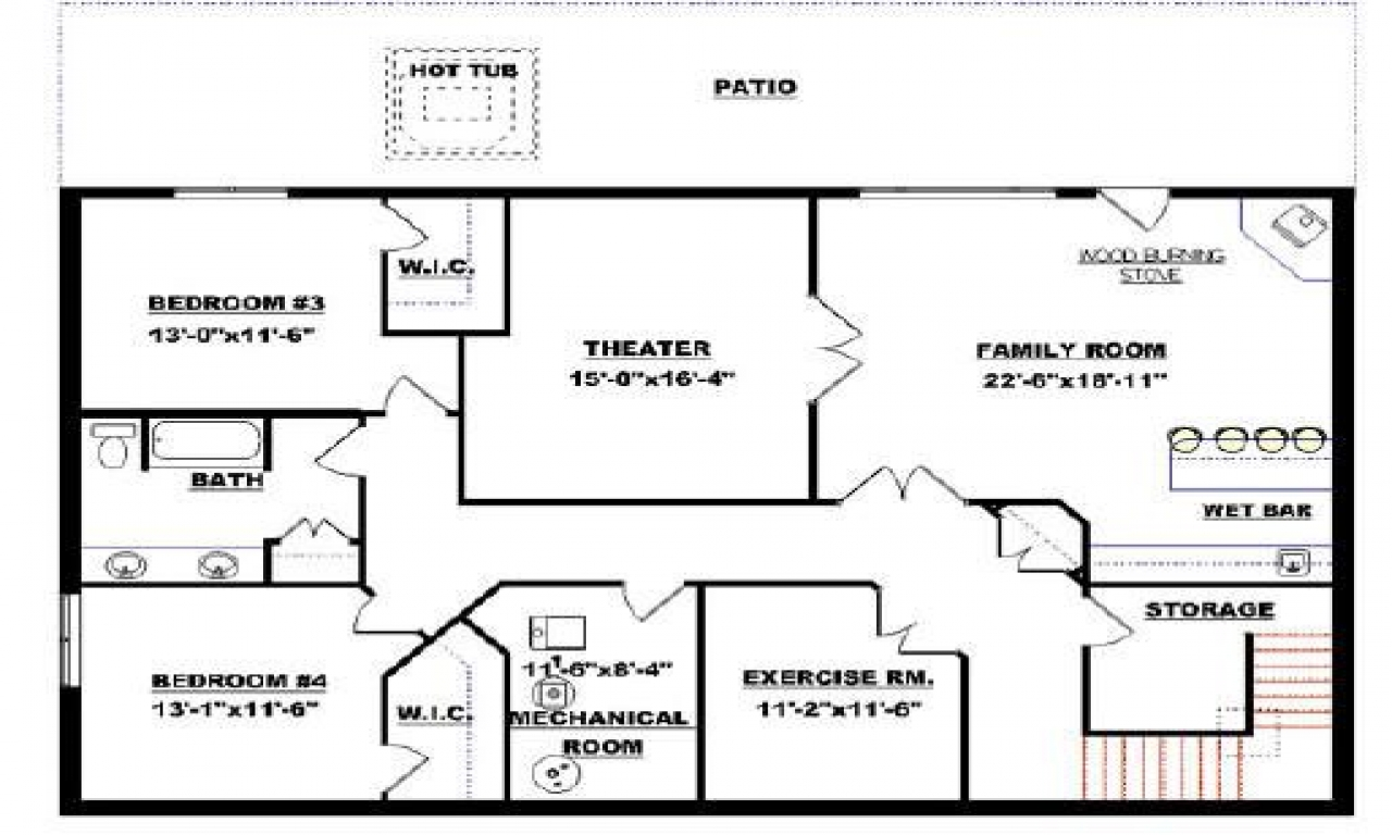 Small Modular Homes Floor Plans Floor Plans With Walkout