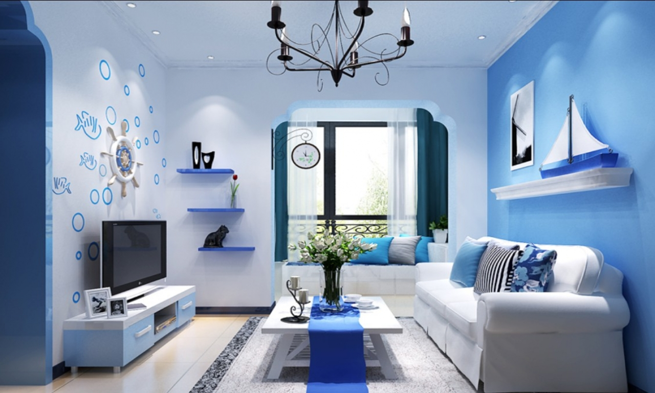 Ideas Of Room Color In Blue Jasmine