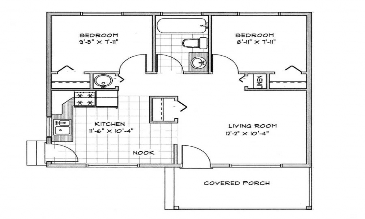 Small Cabin Floor Plans Cabin Cottage Plans Under 1000 Sq ...