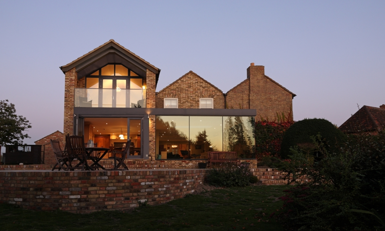 Traditional house modern addition home additions before for Traditional house designs uk