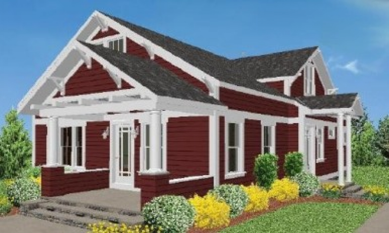Modular craftsman bungalow style homes craftsman style for Bungalow prefab homes