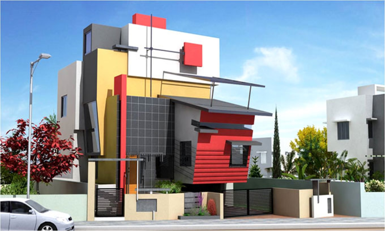 Front Elevation Of House With Porch : Modern front house elevation designs porch