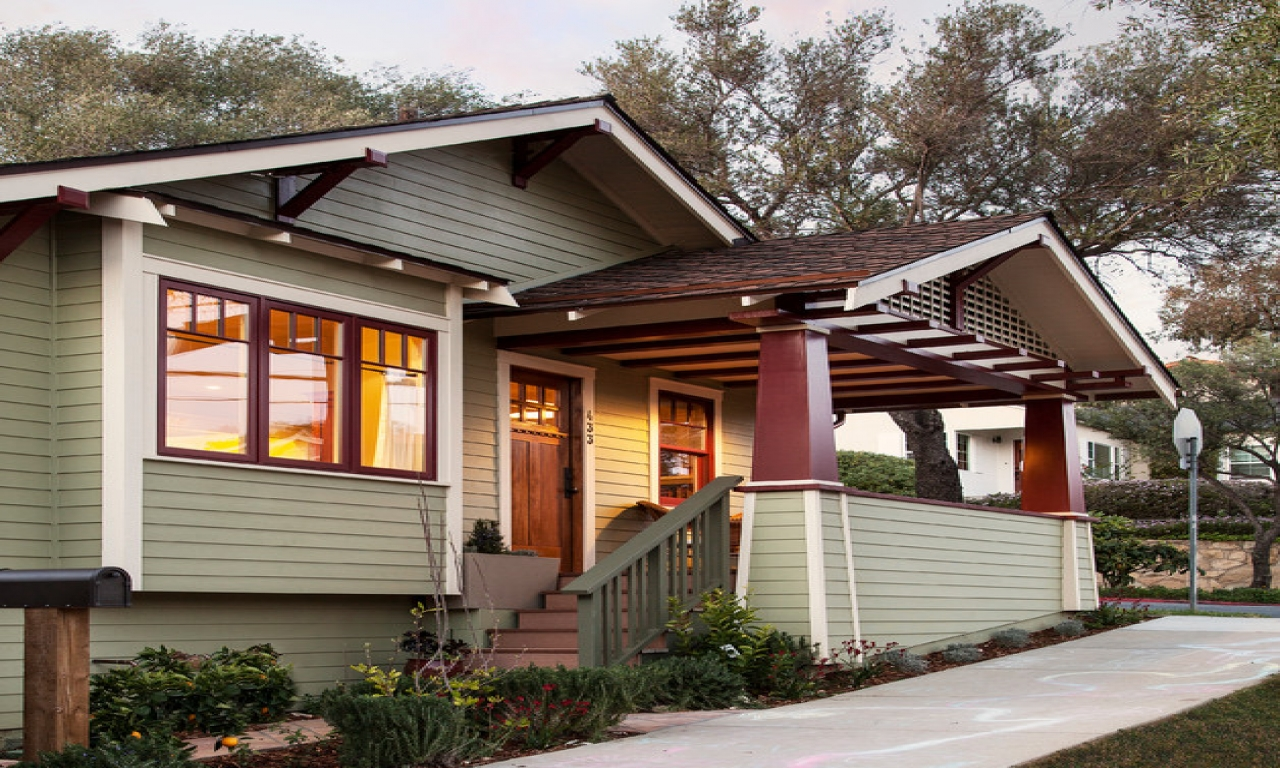 Small house plans craftsman bungalow craftsman bungalow for Craftsman style front porch