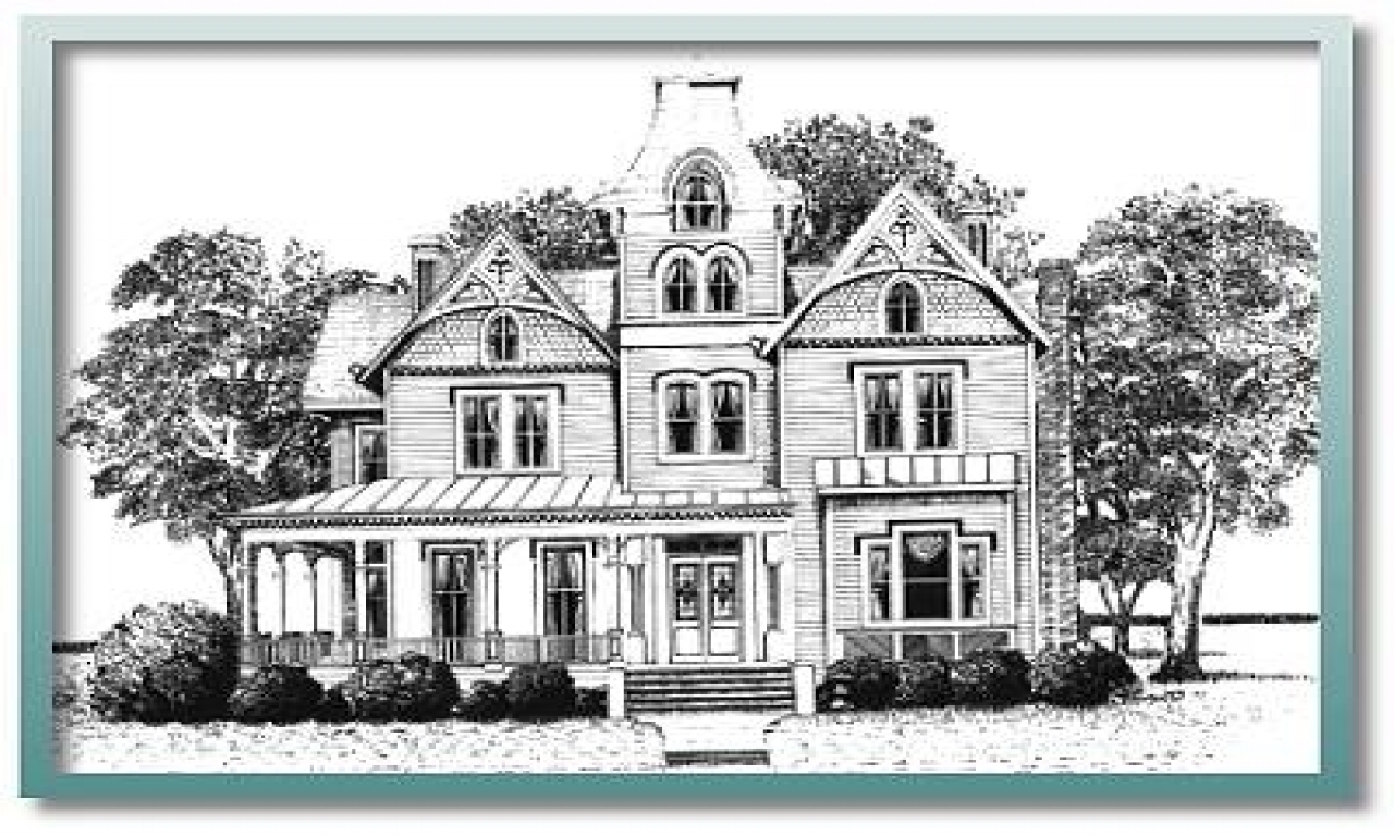 Historic house plans 1900 historic victorian house plans for Victorian row house plans