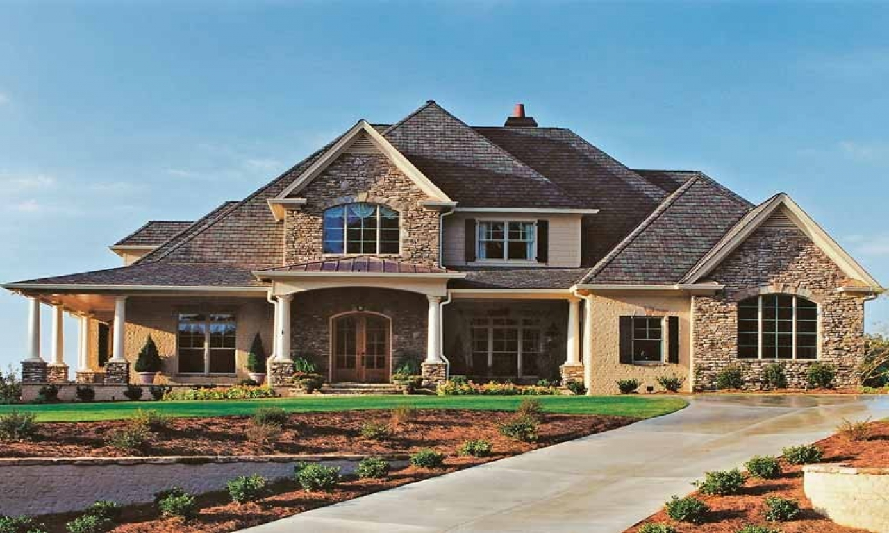 French country house plans with porches french country for Louisiana french country house plans