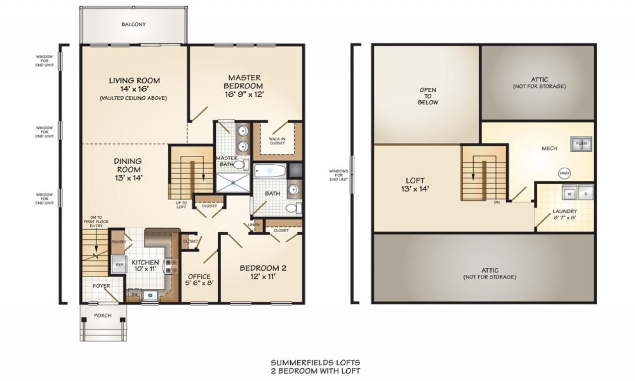 2 bedroom floor plan with loft 2 bedroom house simple plan for Two bedroom home plans
