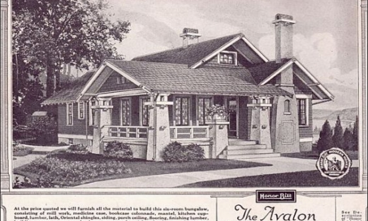 Simple craftsman bungalow sears craftsman bungalow house Craftsman bungalow home plans