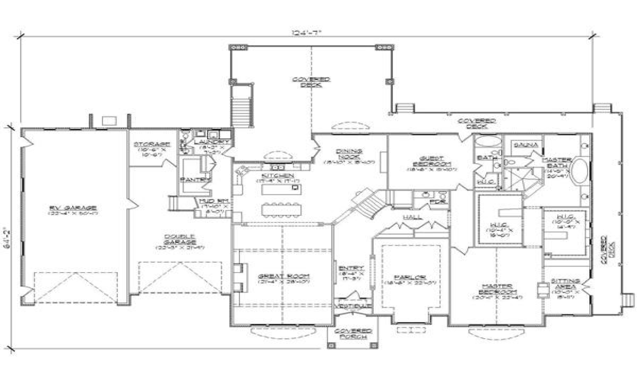 House plans with rv garages attached house plans with rv for Garage house plans
