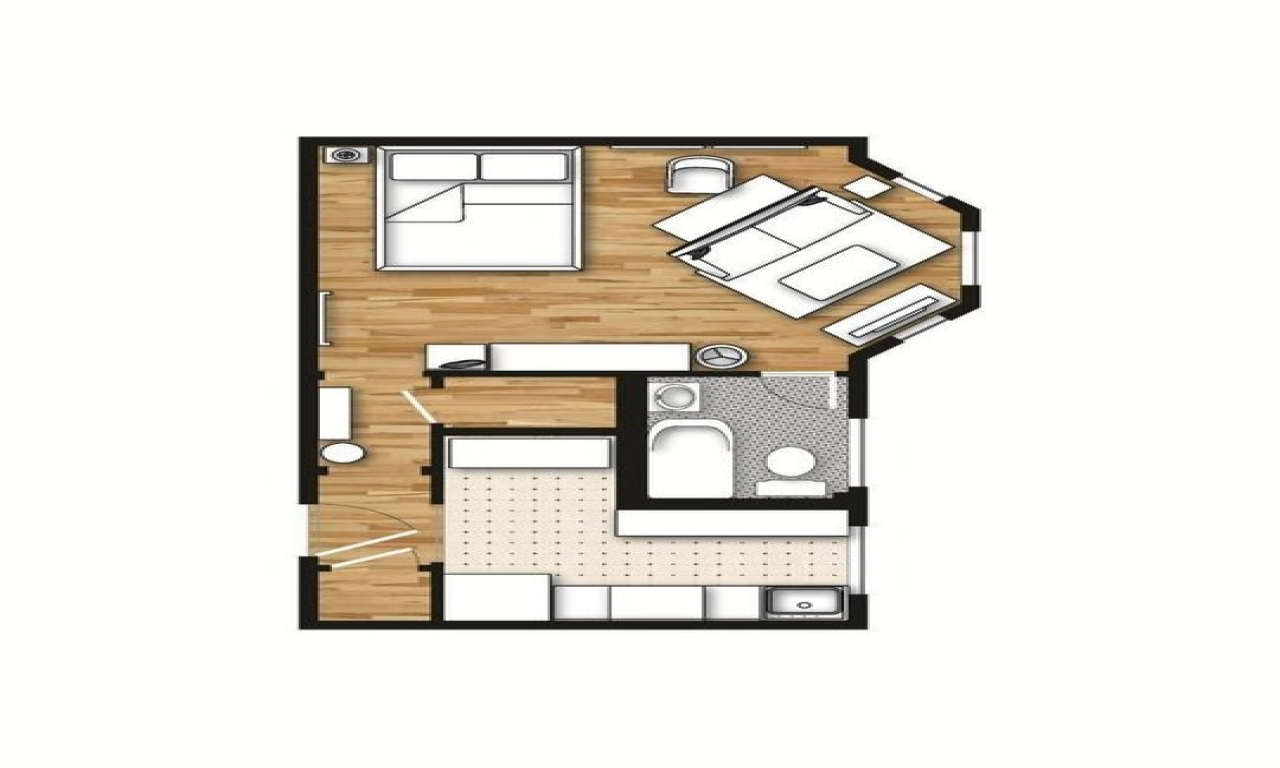 Decorating a studio apartment 400 square feet 400 sq feet for Studio house plans one bedroom