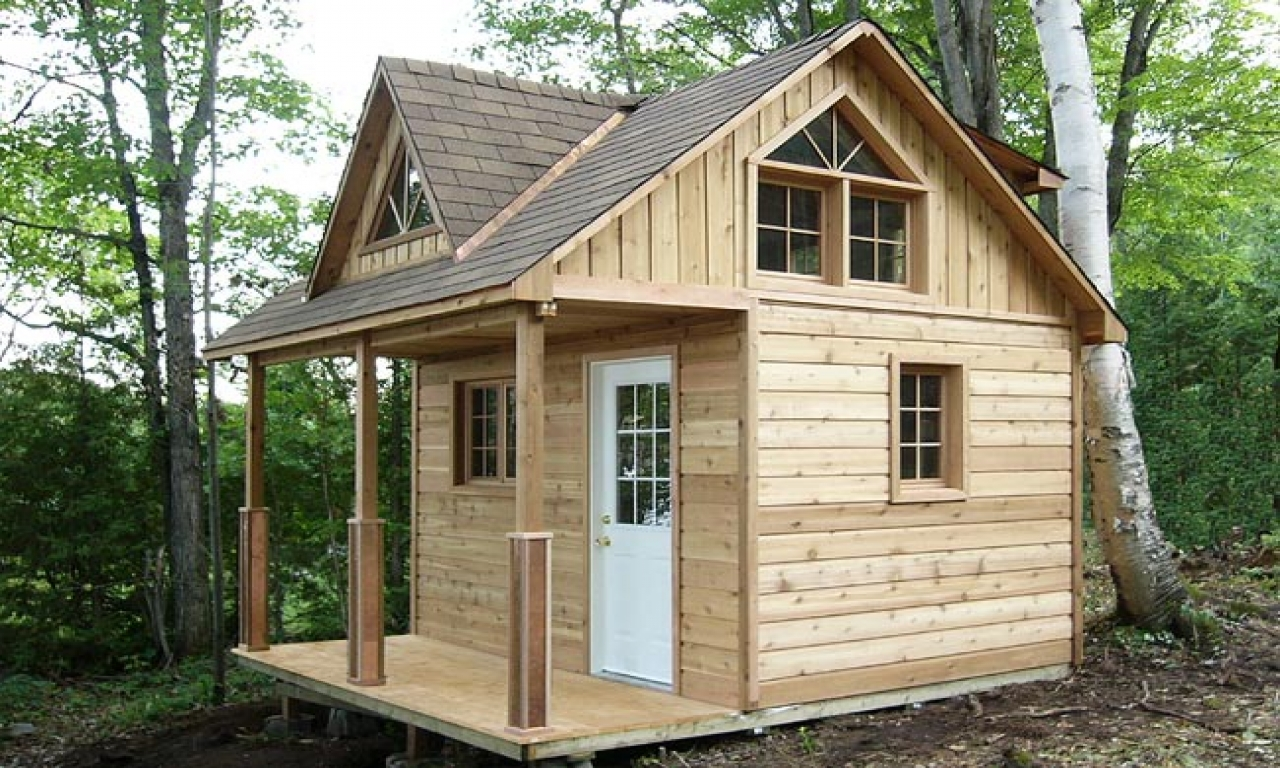 Inexpensive small cabin plans small cabin plans with loft for Small camping cabin kits