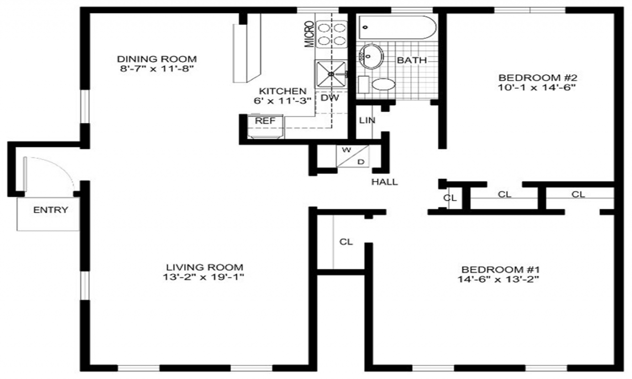 Kitchen Layout Templates 6 Different Designs: Free Printable Furniture Templates For Floor Plans