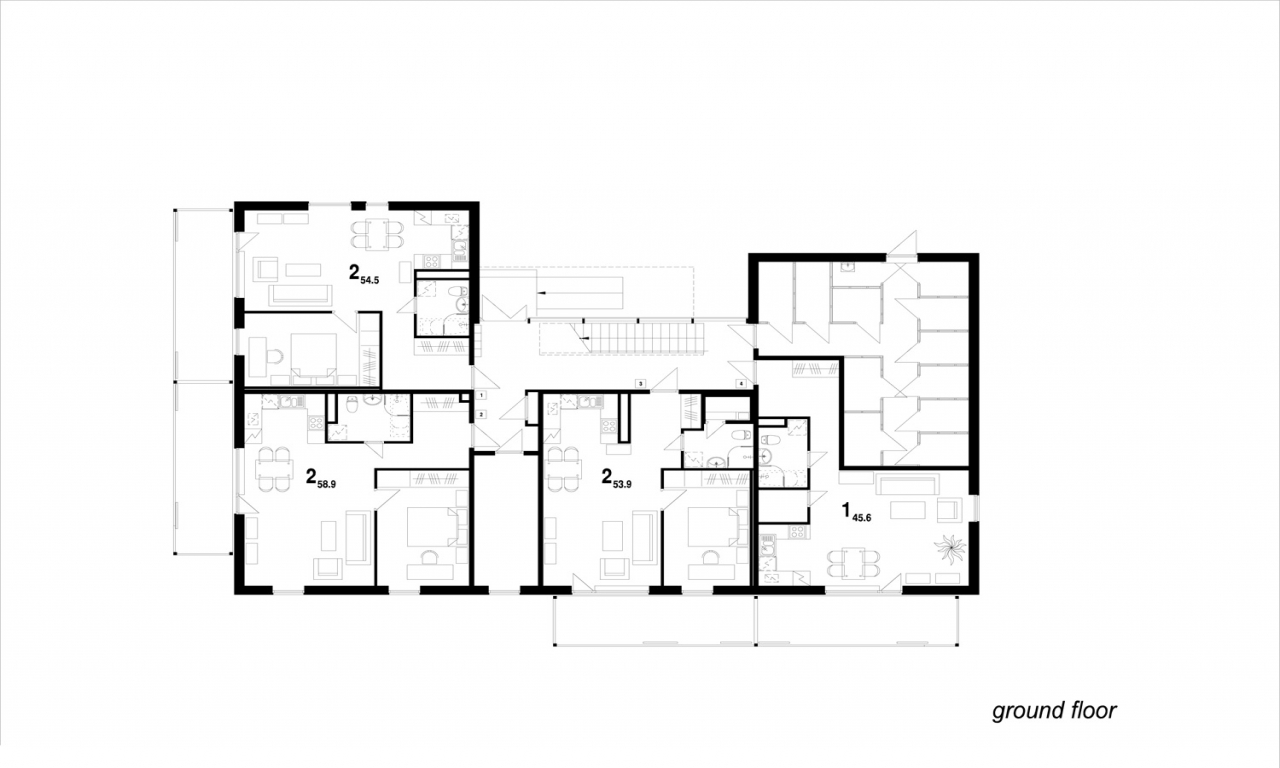 Residential floor plans with dimensions simple floor plan for Residential blueprints