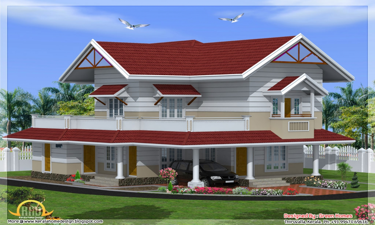 Modular home designs 3 bedroom home design kerala style for Three bedroom house plans kerala style