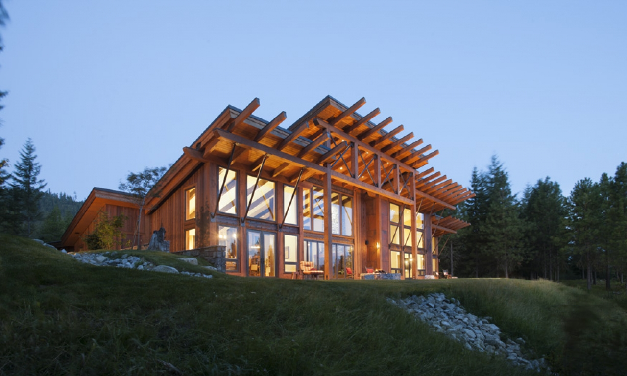 Small timber frame cottages contemporary timber frame for Small timber frame cabin plans