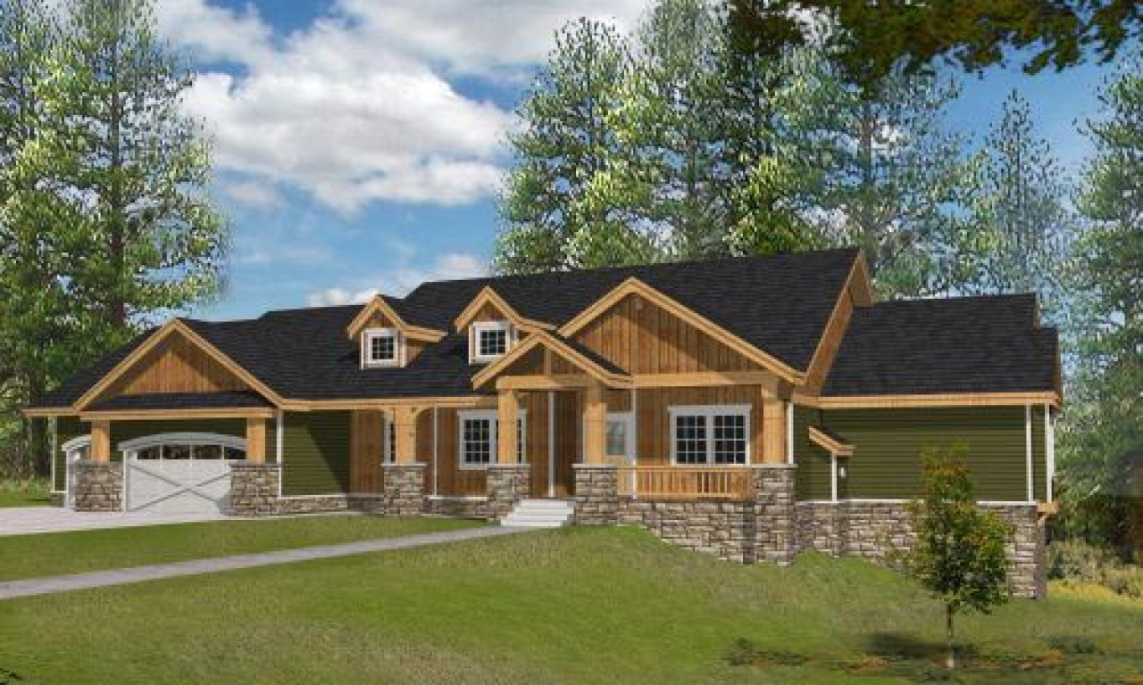 Northwest style house plans 4466 square foot home 1 for One story cottage