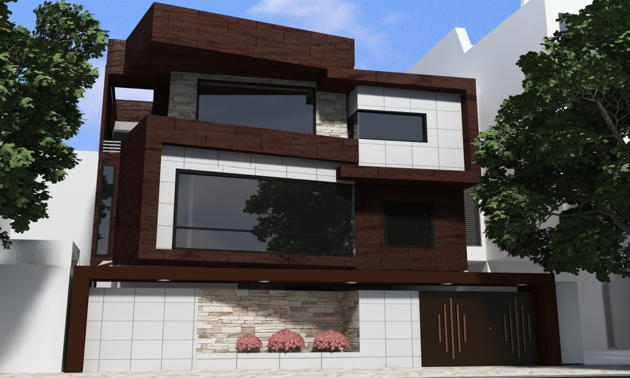 Modern exterior house paint colors modern house exterior for Modern painted houses pictures