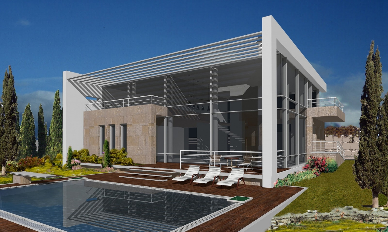 Modern traditional house exterior modern mediterranean for Contemporary traditional home exterior