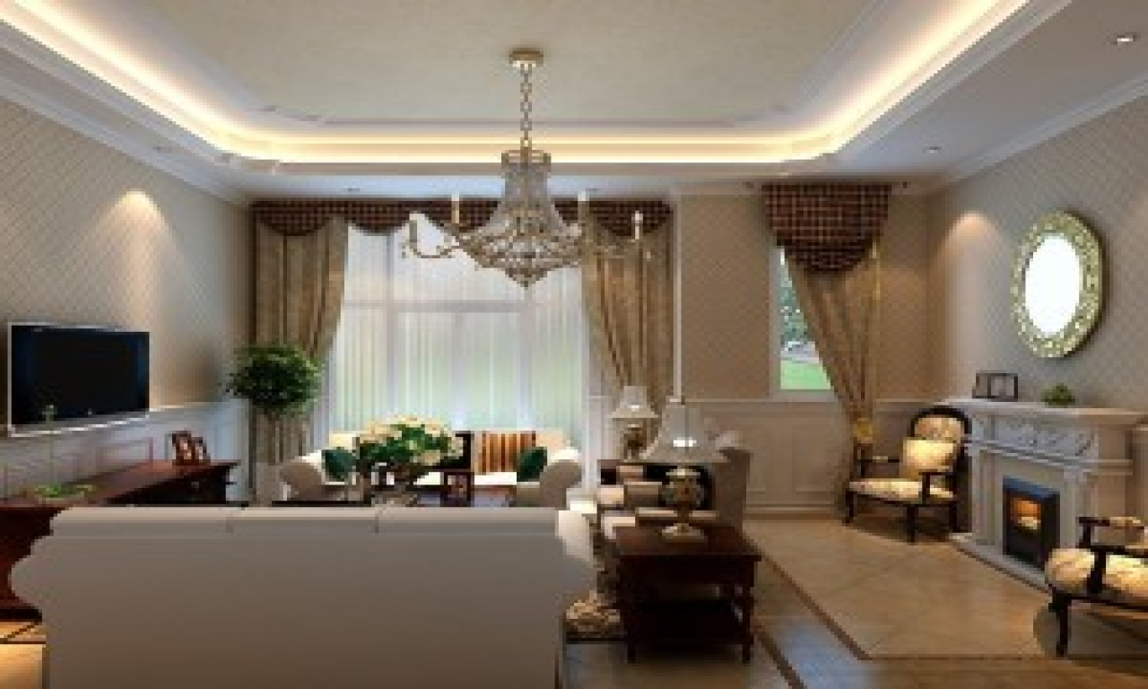 Beautiful living rooms neoclassical living room with mirror download 3d house neoclassical - Beautiful rooms pic ...