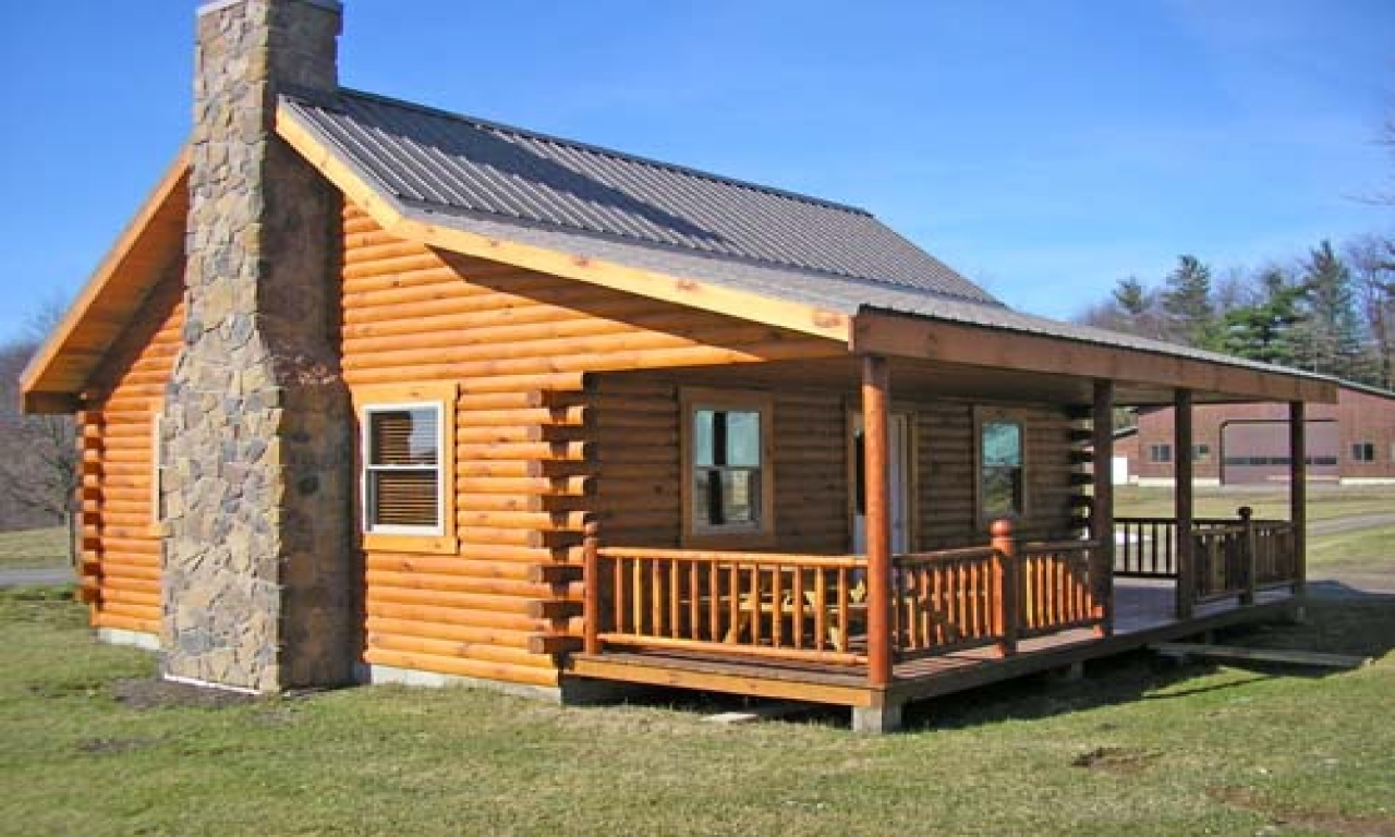 Small Log Cabins With Lofts Small Square Log Cabin With