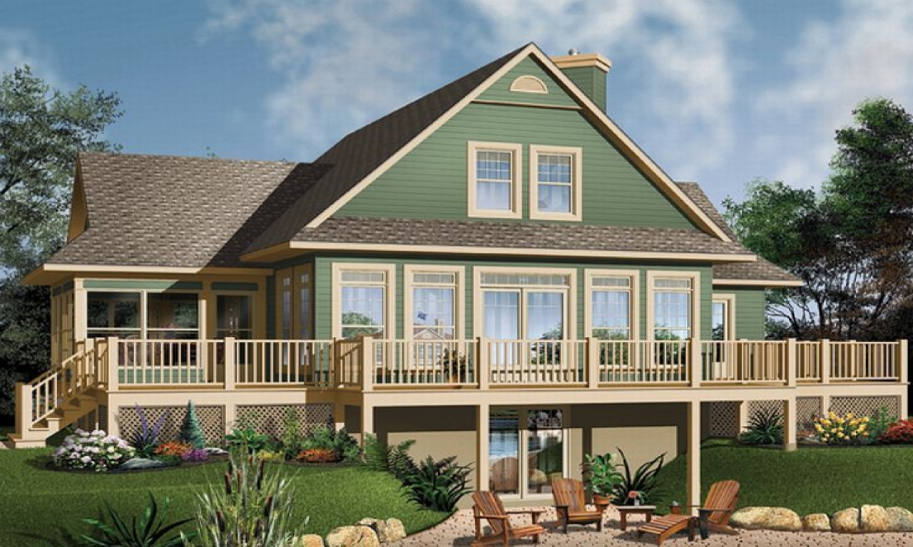Southern style lake house plans waterfront house floor for Southern style home designs