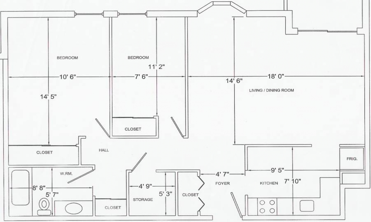1 4 scale furniture templates printable floor plan for Floor layout template