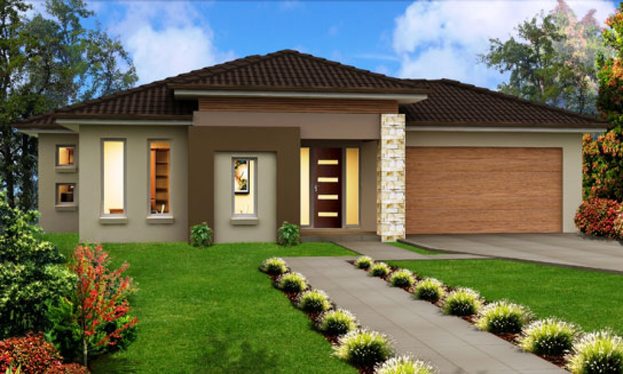 New Single Story Homes Modern Single Story Home Designs