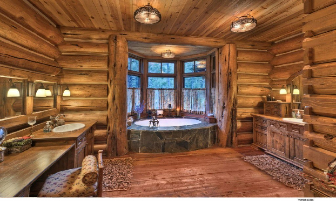 Rustic Log Cabin Bathroom Designs Log Cabin Rustic Bathroom Vanities Log Cabin Bathroom Designs