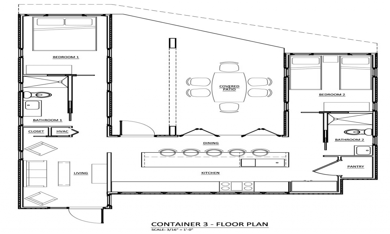 Shipping container homes bathrooms shipping container home for 2 story box house plans