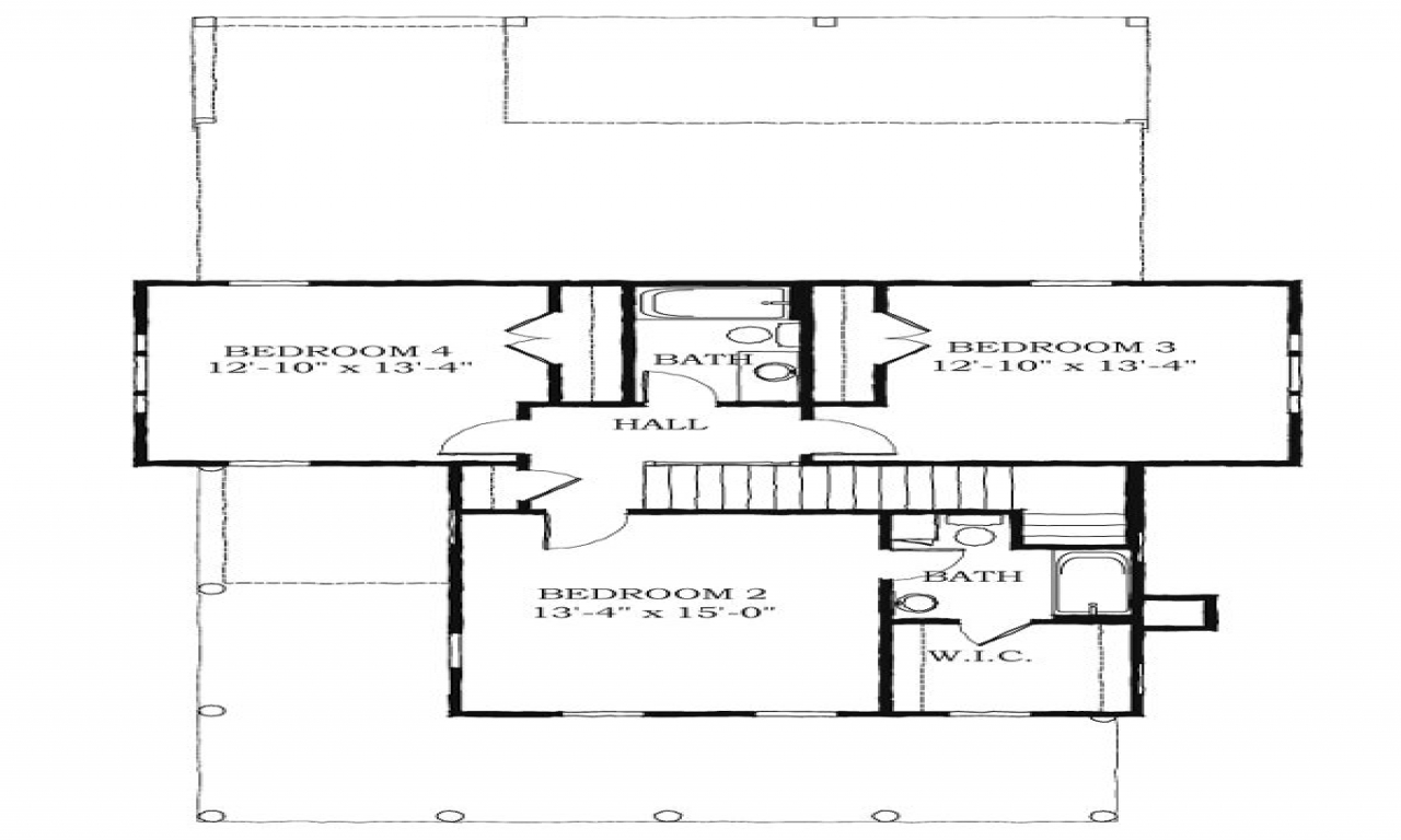 Historic southern house plans charleston style house plans for Southern style floor plans