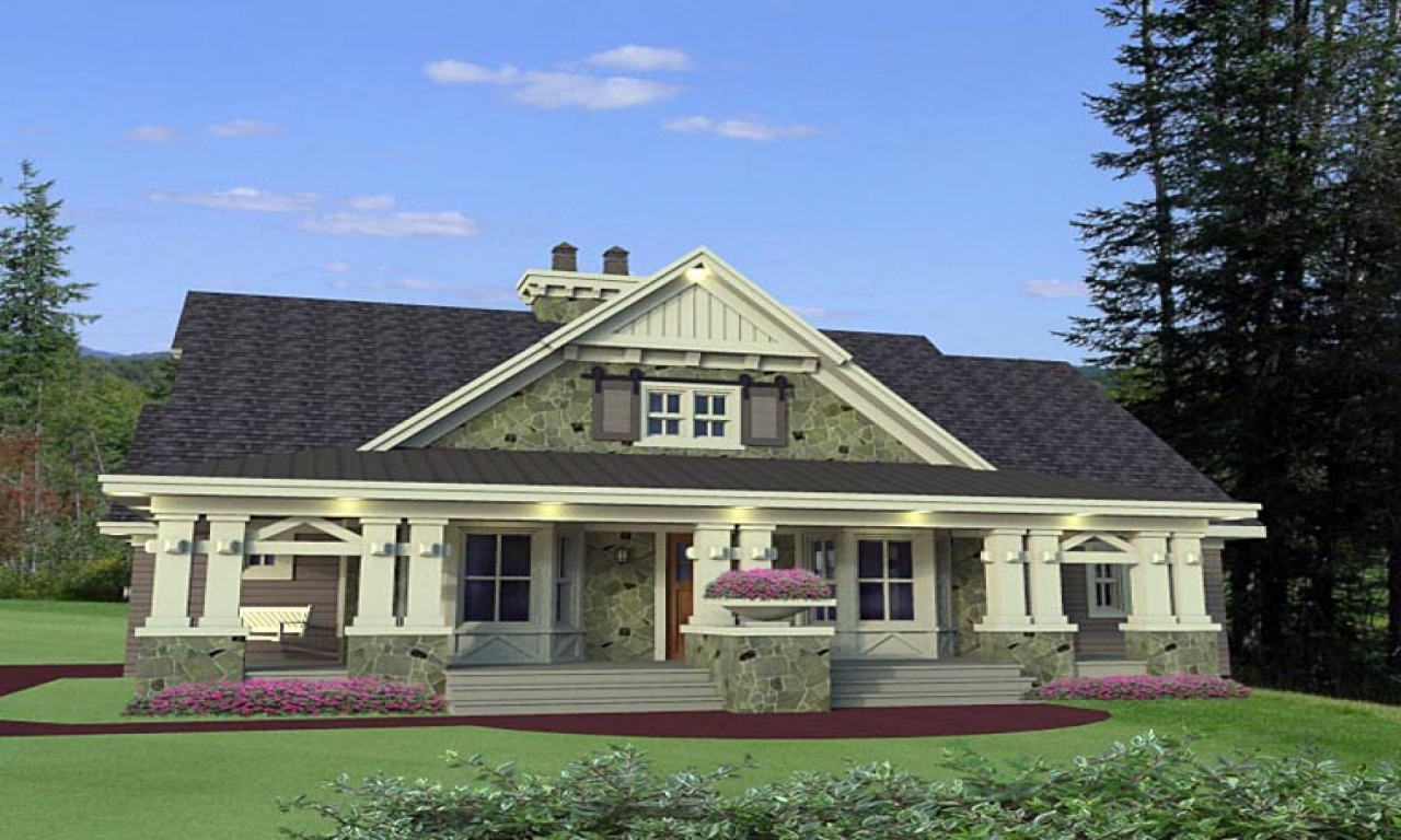 Craftsman House Plans Ranch Style Home Style Craftsman