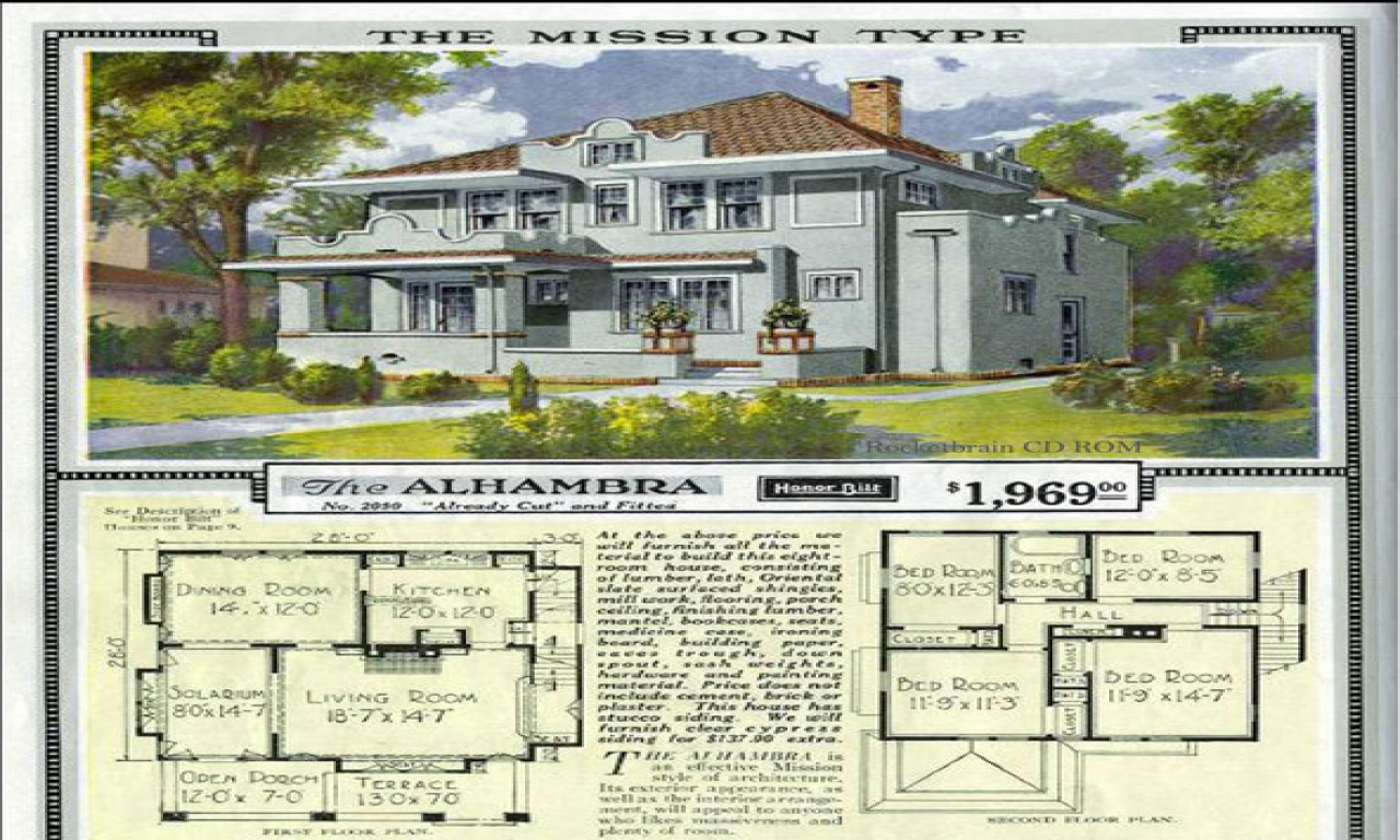 Old sears catalog craftsman house plans sears catalog oops for Old ranch house plans