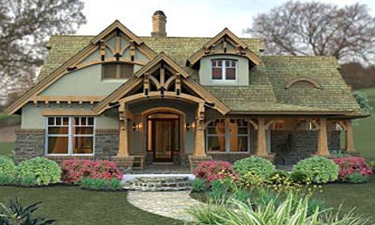 California craftsman bungalow small craftsman cottage for Craftsman bungalow home plans