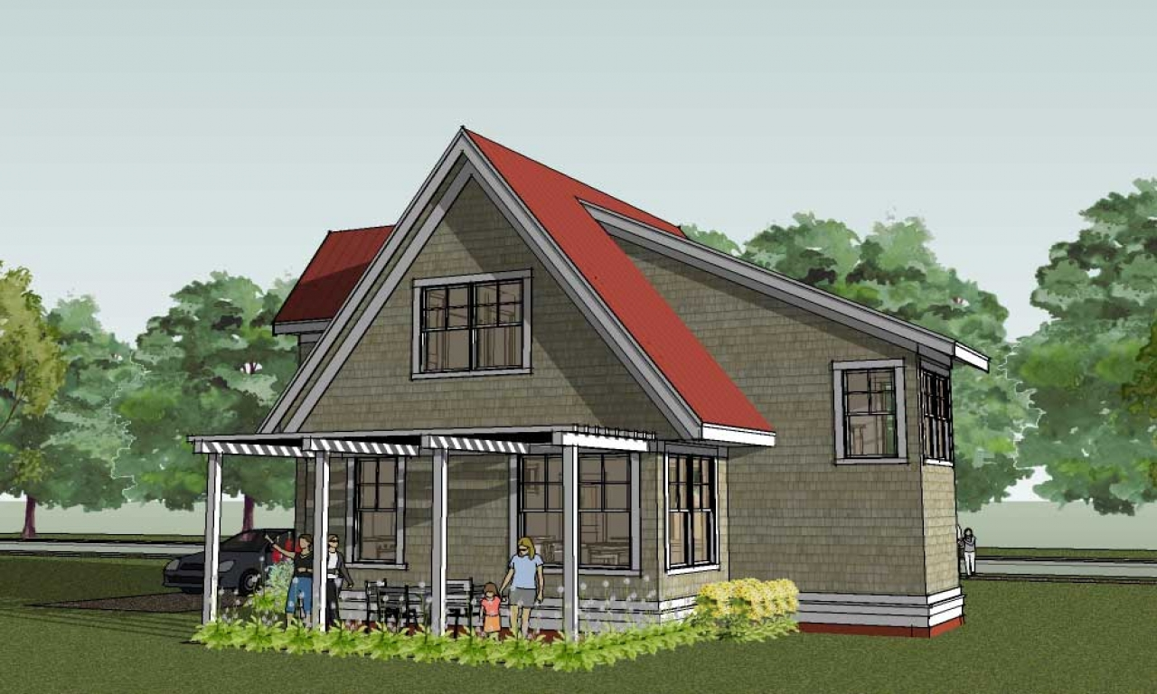 Small cottage house plans for homes small country house for Small country cabin plans